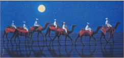 シルクロードを行くキャラバン(西・月)