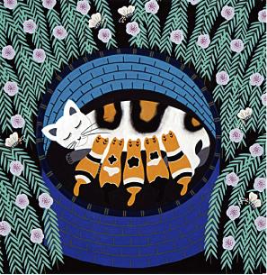 かごの中の猫 朱素珍